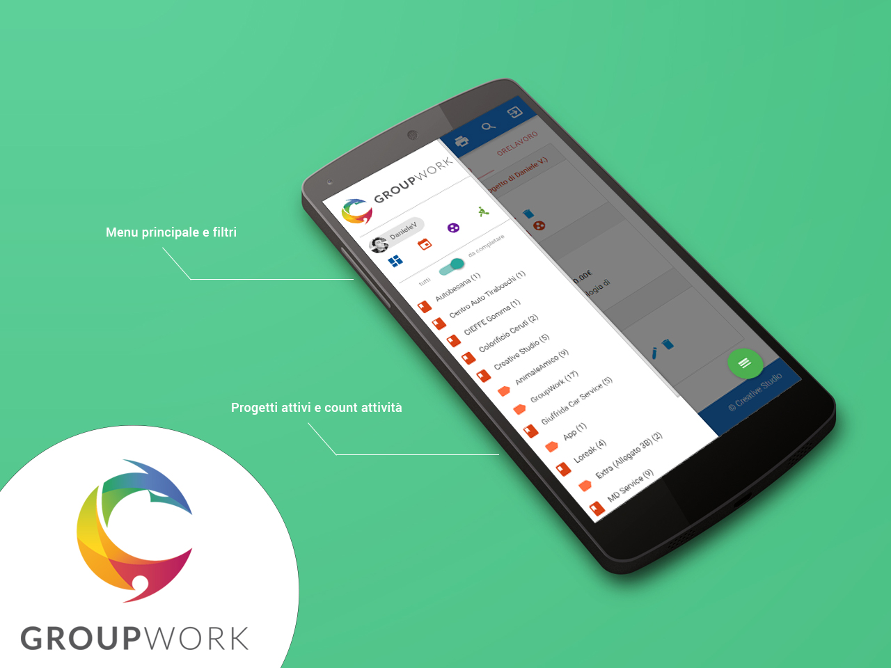 GroupWork software gestione progetti