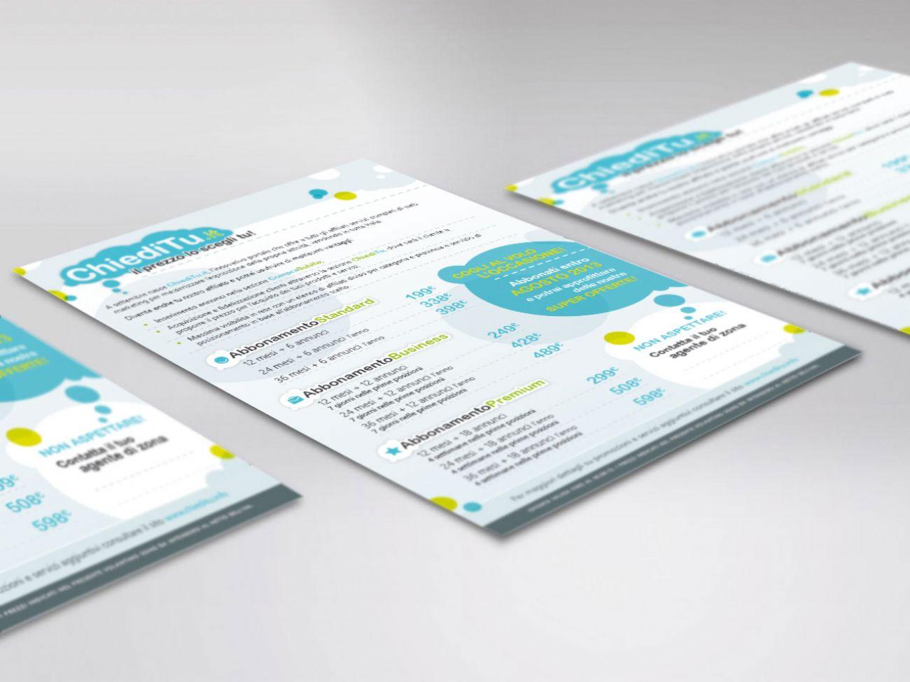 Flyer portale annunci online