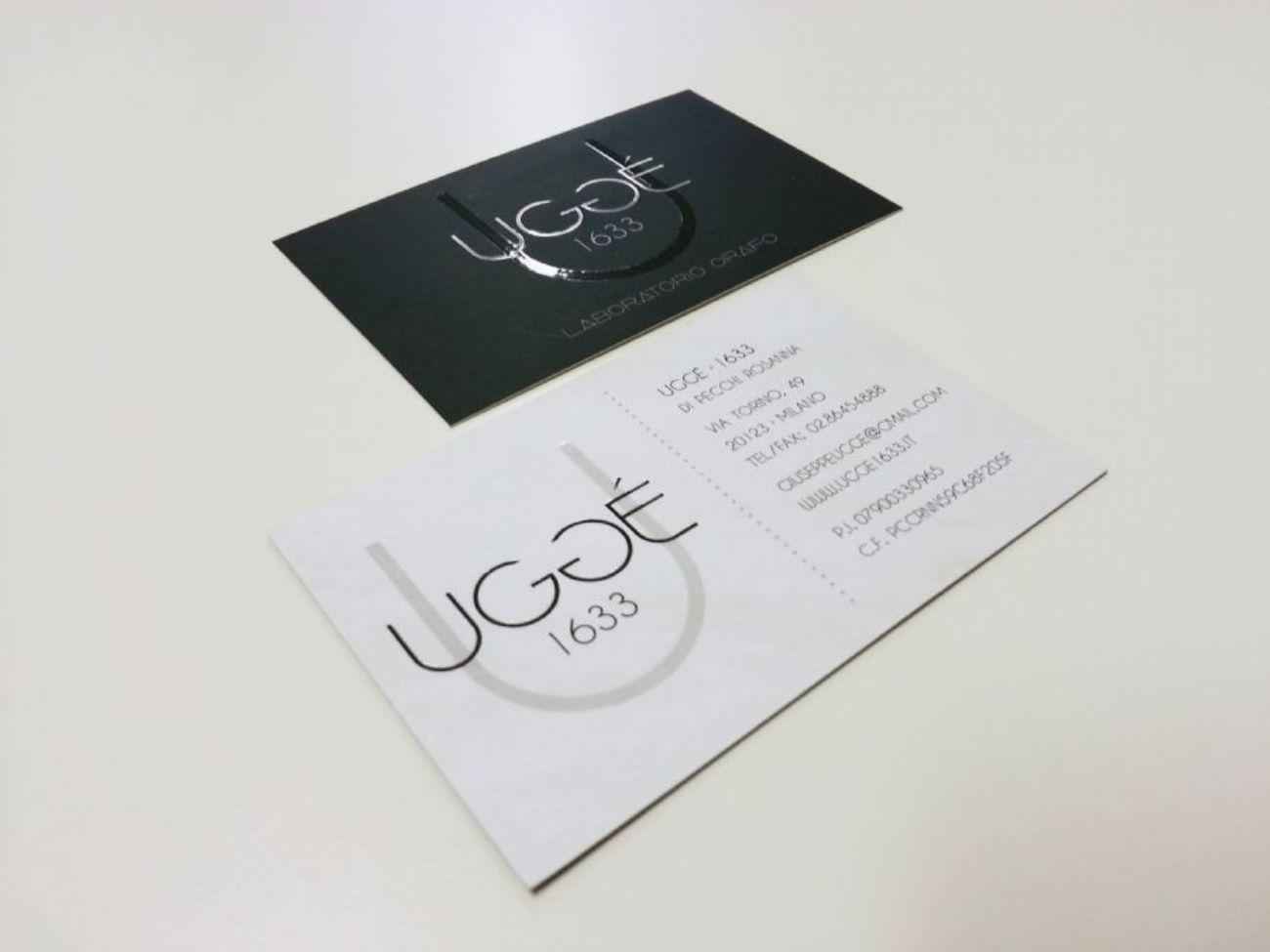 Design biglietti da visita UV