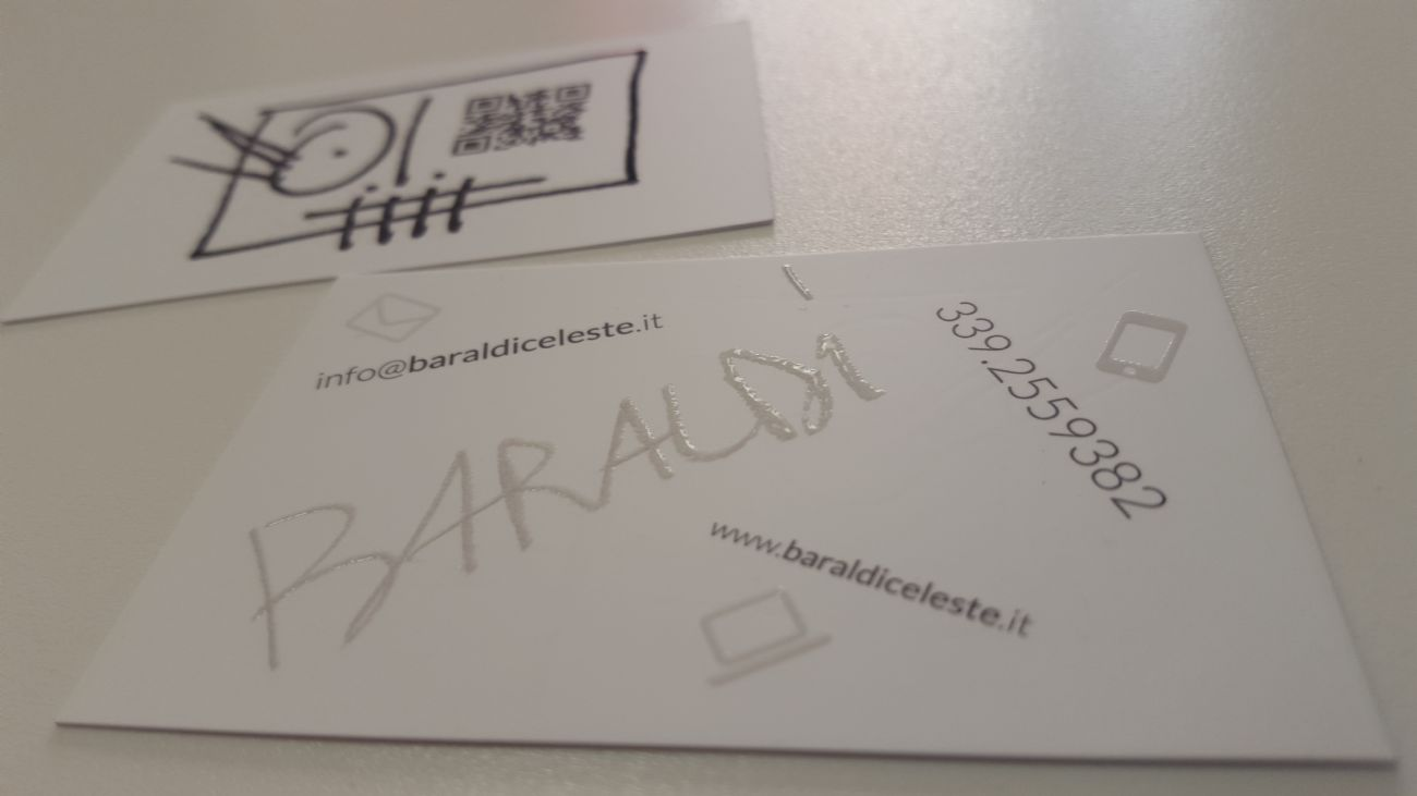 Biglietti da visita per un artista