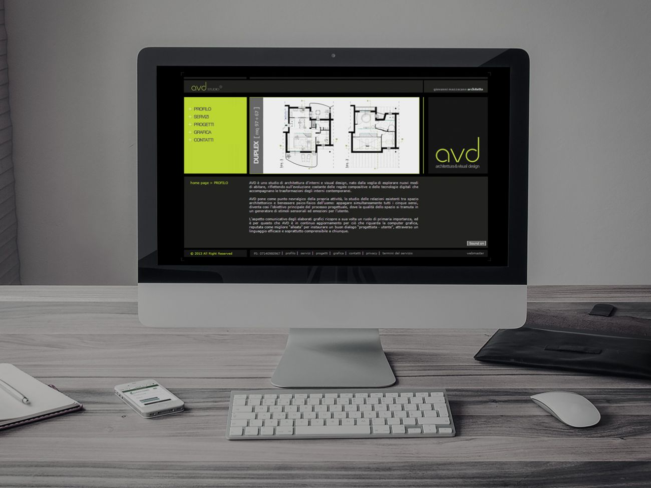 Realizzazione sito web architetto