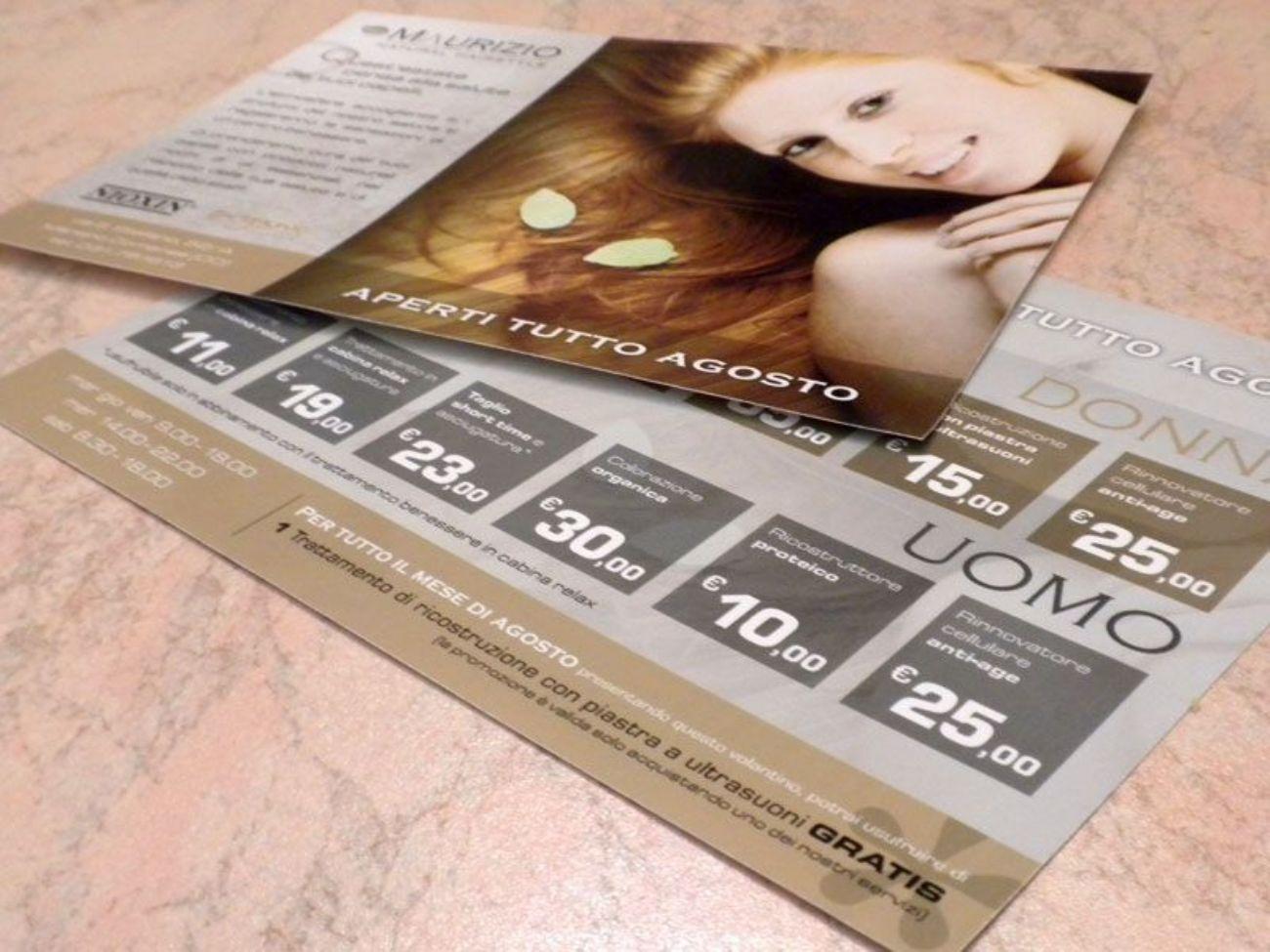 Grafica flyer promozionale