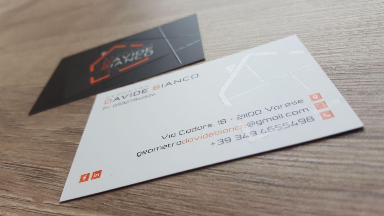 catch look out for excellent quality Biglietto da visita geometra