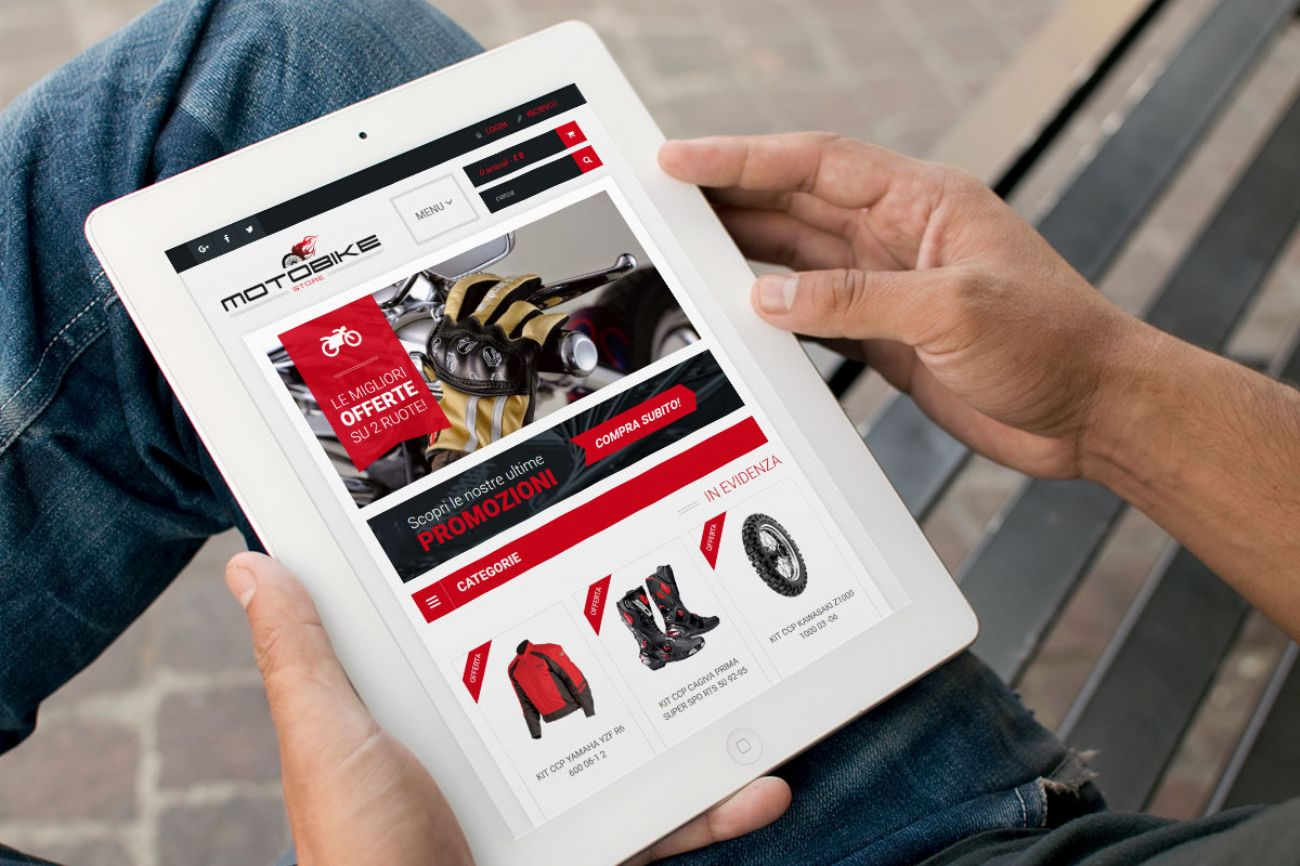 E-commerce accessori moto