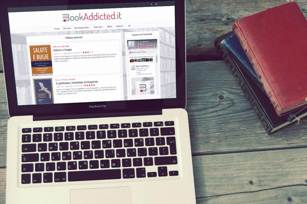 Sito web responsive recensione libri