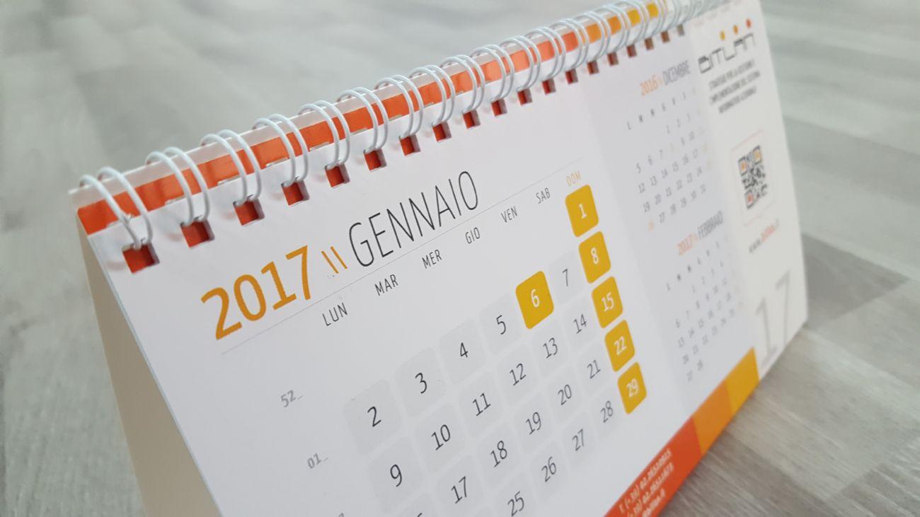 Calendario da scrivania 2017