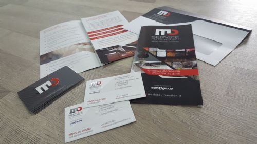 Corporate identity, pieghevoli, carta, timbri