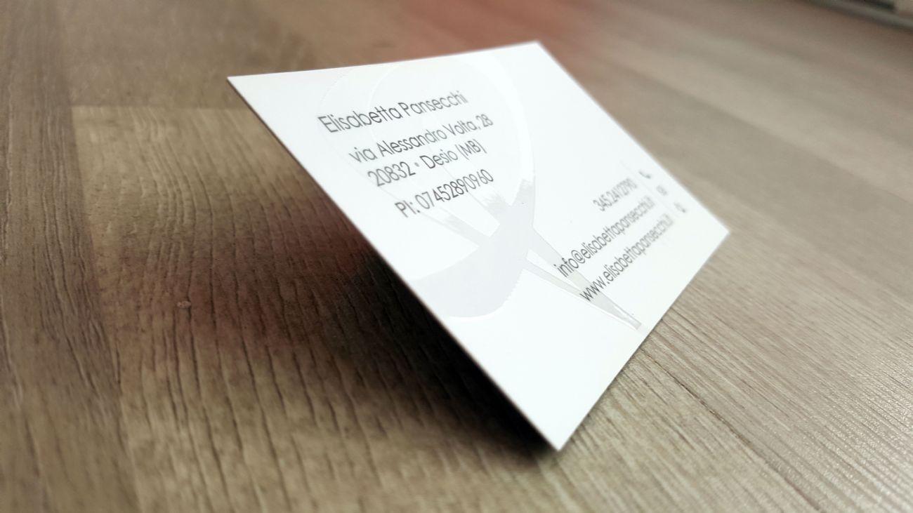 Biglietti da vista interior design uv