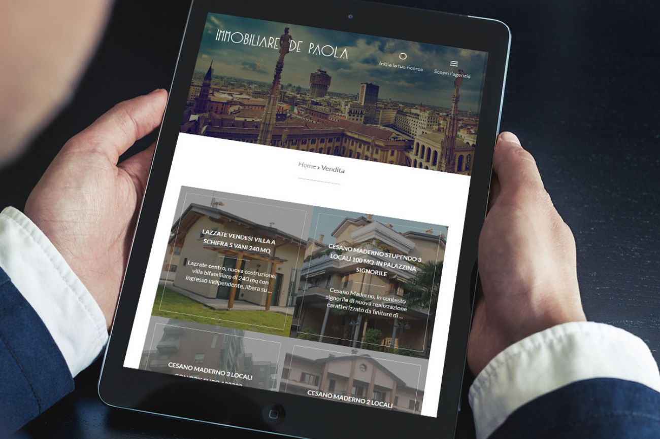 Sito web agenzia immobiliare Milano