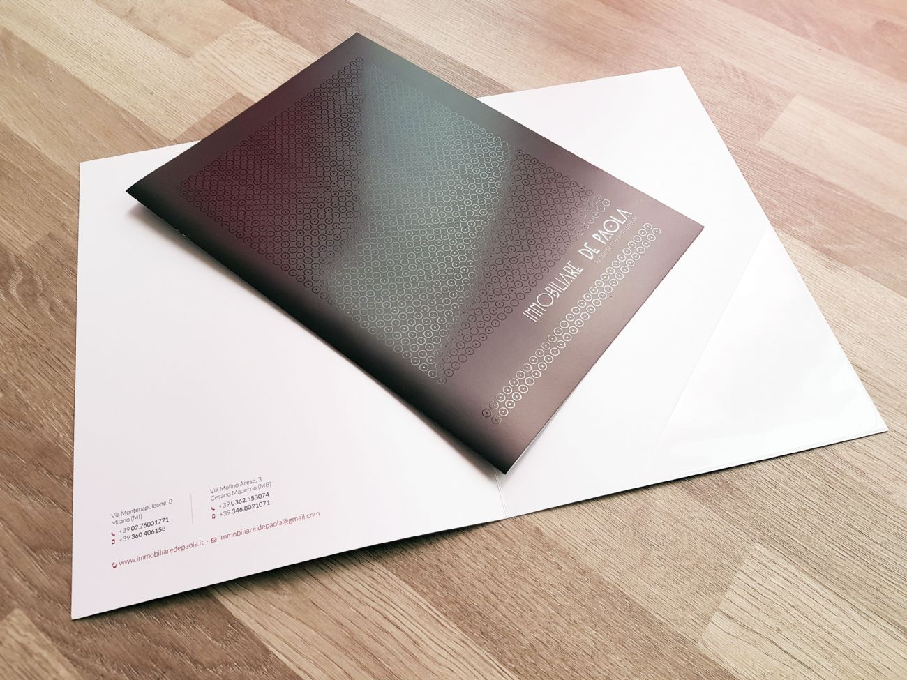 Elegante cartelletta porta documenti
