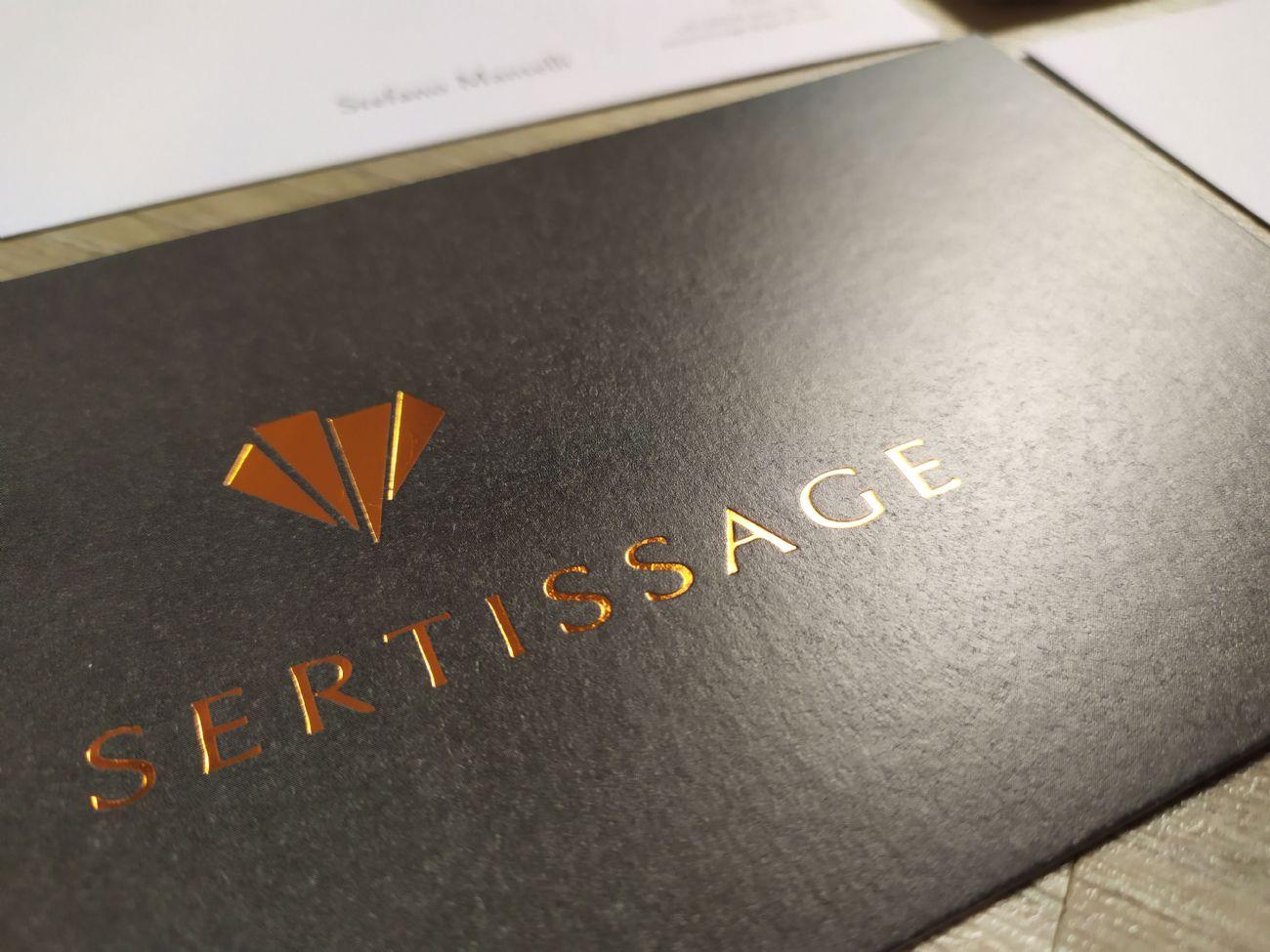 Cartoline con stampa rame a caldo