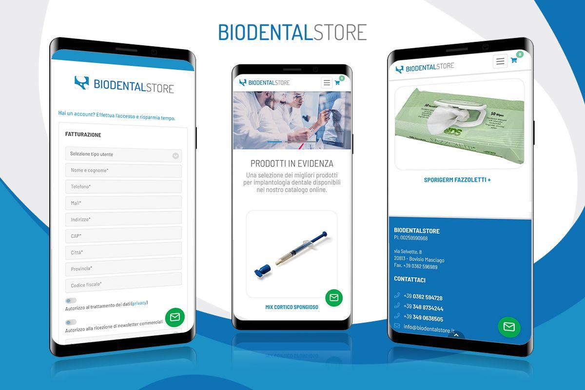 E-Commerce prodotti per implantologia dentale