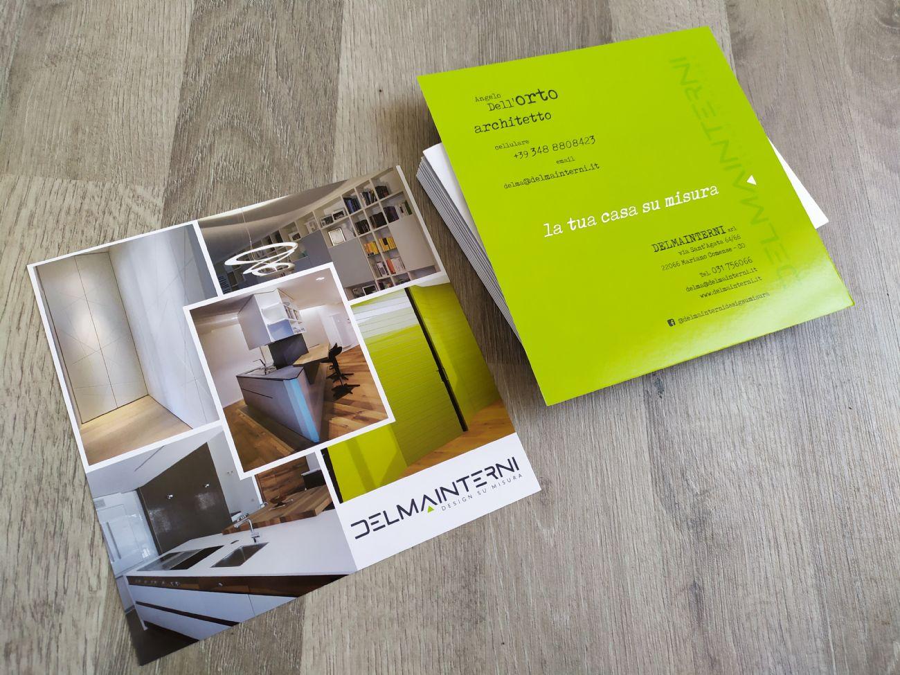 Flyer quadrato presentazione architetto