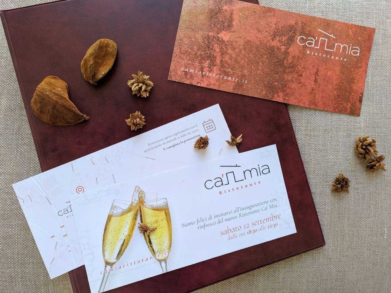 flyer inaugurazione ristorante