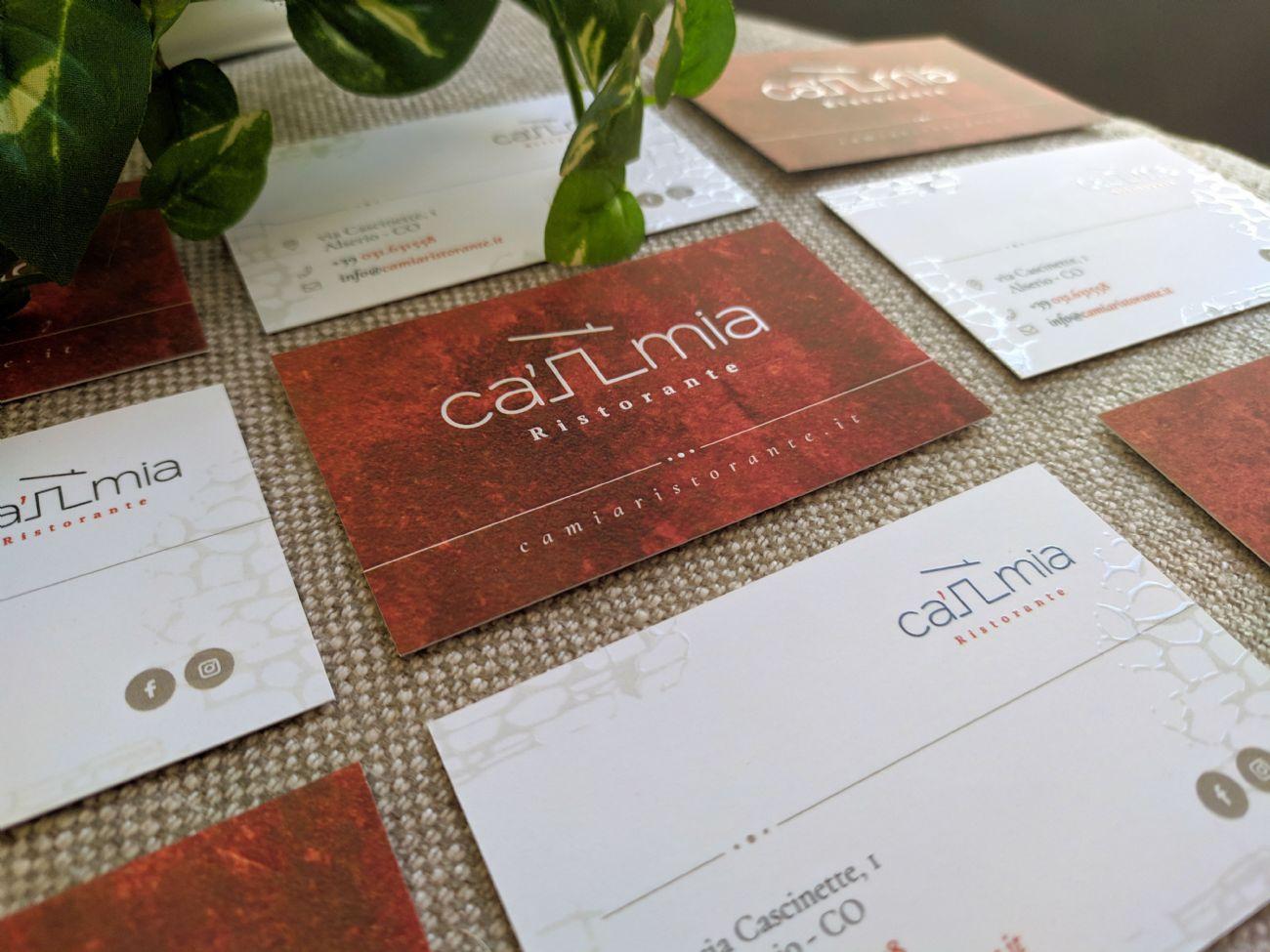 biglietti da visita per ristorante