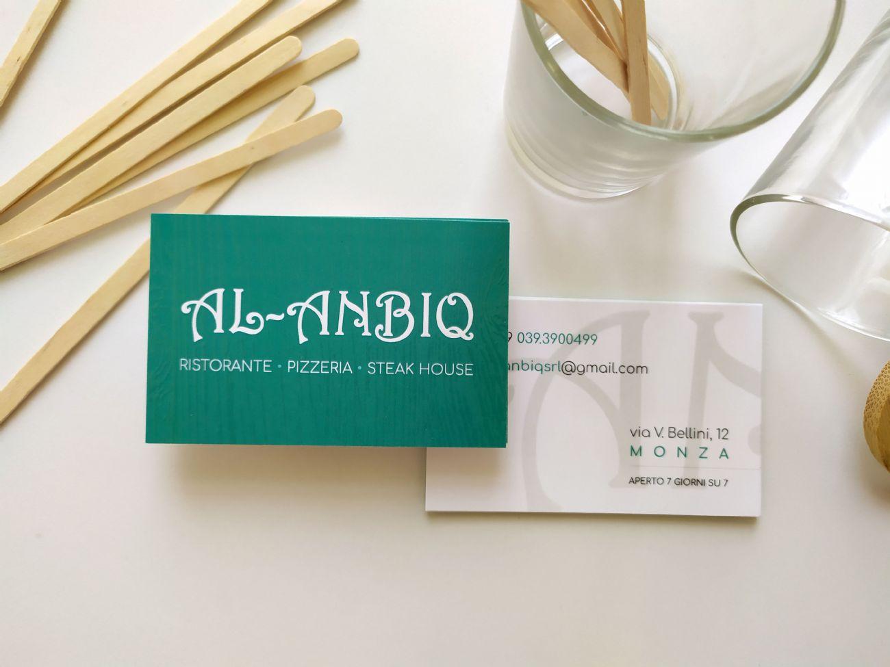 biglietto da visita ristorante